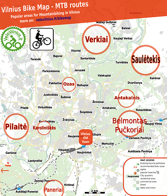 Mountainbiking (MTB) in Vilnius - amazing routes in 2020!