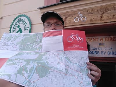 "Get a new ""Bicycle routes in Vilnius"" map 2020!"