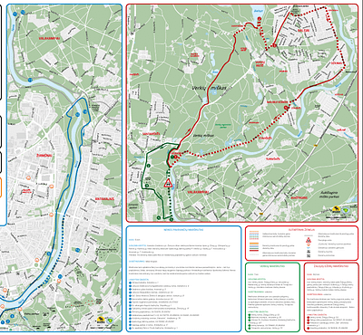 "Neris river and Verkiai nature park routes [1] To the ""Green Lakes"" and Europe sculpture park"